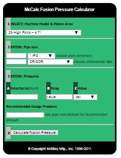 Fusion pressure calculator